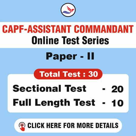 CAPF Assistant Commandant Paper-II 30 Tests-Combo Pack